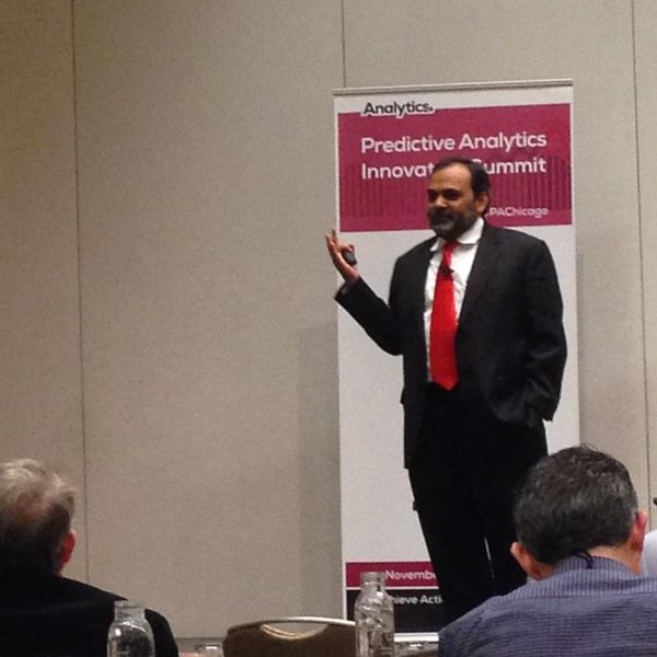 Dr Satyam Priyadarshy draws a very clear distinction between 'actionable insights' & data - Brian Farrelly